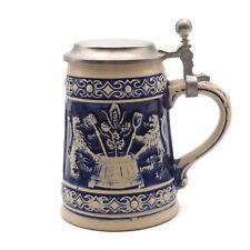 Vintage German Stoneware Stein Gerz Hopfen U. Malz Gott Erhalt's 94 % Zinn Lid