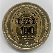 $100 Binion'S Horseshoe Club, Las Vegas Casino Gaming Token
