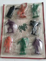 """MPC Monster 2"""" Mini Horror Figures Multiple Toys vintage 1964-undertaker-witch"""