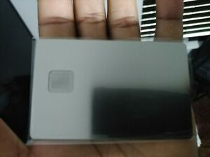 New Blank Metal Credit/Debit Card with 4428 Size Chip-Hole and Hico Magstripe !