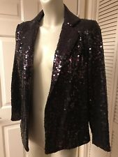 Euc Vintage 80'S Gilbert For Tally Dk Sequined Eve Jacket M Medium