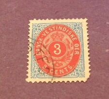 US Stamp Danish West Indies Scott# 6 Coat of Arms 1874-79  C233