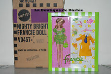 NIGHTY BRIGHTS FRANCIE DOLL GIFTSET, SILKSTONE FRANCIE DOLLS, V0457, 2011, NRFB