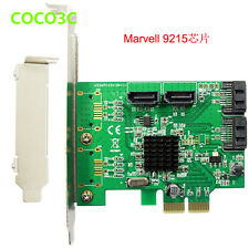 Marvell  88SE9215 SATA 6Gb 4 Port PCIe Controller Card PCI express SATA III 3.0