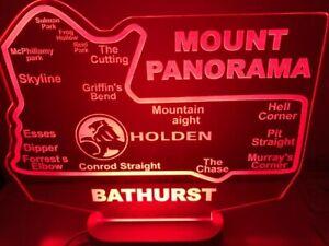 Bathurst Mount Panorama Holden LED race track sign light 285mm x 250mm supercars