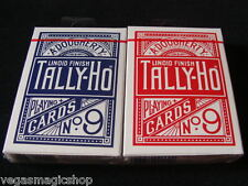 Tally-Ho Circle Back 2 Deck Set Blue & Red Playing Cards Poker USPCC Black Seal