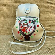 Gold Owl Purse Small bag with Phone Spectacles  Holder Long & Short Straps