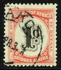 SG D48 SOUTH WEST AFRICA 1931 POSTAGE DUE - 1d BLACK & SCARLET - USED