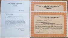 'Plykrome Corporation' 1934 Letterhead & TWO Stock Certificates- Wall Street, NY