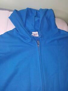NEW Gildan 3xl Womens royal blue Zip Hoodie Heavy Cotton Poly Hooded Sweatshirt