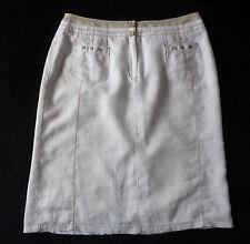 Bonita white Lined cotton wedding summer skirt UK Size 12 waist 46 calf length