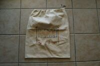 Vintage Emroidery Laundry Bag Drawstring Dog Drying on the Line Design Handmade