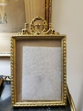 "Ornate Brass Standing Picture Frame 5"" x 7"" Photo"
