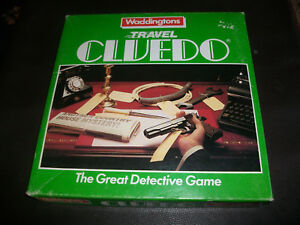 Travel Cluedo Waddingtons 1984 Spare Pieces Cards Weapons Choose from List