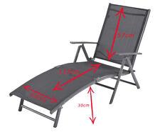 Aluminium Chaise de jardin terrasse fauteuil plage freizeitliege 173x64x30cm