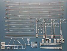 Hobbex OH001 H0 Oberleitung, Probepackung, Streckenmaste + Fahrdrähte + Buch