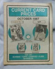 October 1987 CURRENT CARD PRICES Bob Boone Nolan Ryan Cal Ripken