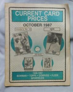 October 1987 CURRENT CARD PRICES Bob Boone Nolan Ryan Cal Ripken