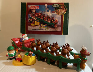 """Fisher Price Little People """"Twas the Night Before Christmas"""" (2004). WORKS!"""