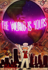 "Alec Monopoly ""The world is yours"" HD print on canvas large wall picture 36x24"""