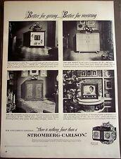 original 1951 vintage Christmas Ad Stromberg-Carlson TV & radio combos