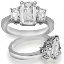 8.5 ct GIA I SI1 natural cushion diamond 3 stone engagement ring platinum size 5