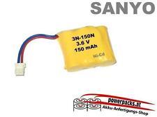 Akku für Schnurlose Telefone und ähnliche geräte SANYO 3.6V150mAh mit Stecker...
