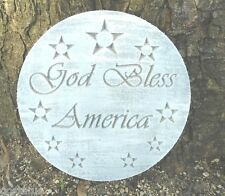 military United States America w stars plaque stepping stone plastic mold