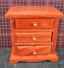 1 /12 scale dollhouse  3 drawer oak night stand