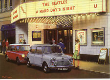 1963 Beatles Film Austin Mini Cooper BMC Green Mini Skirt Motoring art greeting