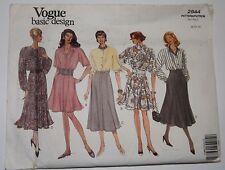 Vogue 2944 Sewing Pattern Shirtwaist Dress with Raglan Sleeves Sizes 8-10-12 UC