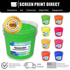 Ecotex® Fluorescent Water Based ink For Screen Printing - ALL SIZES / 9 COLORS