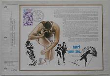 Document philatélique CEF 477 1er jour 1978 Sport pour tous