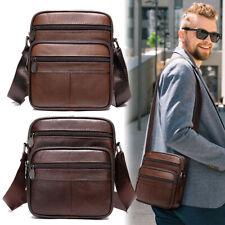 Herrentasche Schultertasche Herren Echt Leder Umhängetasche Kleine Handtasche DE