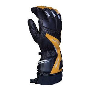 Klim Men's Elite Breathable Gore-Tex Snowmobile Snow Winter Gloves - Black/Tan