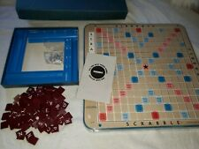 Vintage 1966 Scrabble Deluxe Edition Crossword Game w/ Turntable Base Excellent!