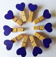 Kraftz ® 40 PC Blu Forma a Cuore in Legno Foto Clip Titolare carta esegue il pegging Decor