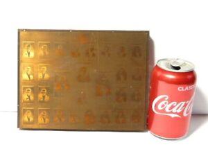 1910 Eton Society 28 Named Portraits Engraved Copper Printing Plate Block