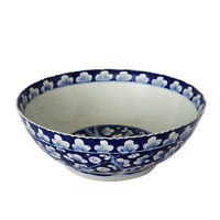 """Beautiful Vintage Blue and White Style Cherry Plum Blossom Porcelain Bowl 16"""" Di"""