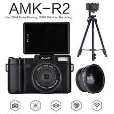 AMKOV AMK-R2 Digital Cameras Camcorders DSLR +Wide Angle Telephoto Lens+Tripod