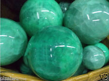 64MM Glow In The Dark Natural Green Fluorite Magic Crystal Healing Ball + Stand