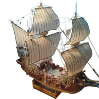 26*5.8cm DIY 1:100 British Golden Deer Sail Boat Battle Paper Model h3