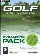 CustomPlay Golf Expansion Pack PC CD Fusion Software add-on simulation game! BOX
