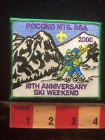 Boy Scout POCONO MOUNTAINS SKI WEEKEND Patch - Snow Ski 10th Anniversary 70WI