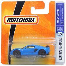 Lotus Exige Blue Matchbox MB706 MBX Metal Short Card #15 2007 Toy Car Model