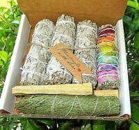 Smudge  Kit:White Sage Rose Petal/Cedar/White Sage/Palo Santo GIFT BOX