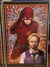 RARE! The Flash GRANT GUSTIN & TOM FELTON Autograph 11 X 17 Print 1st Comic Con