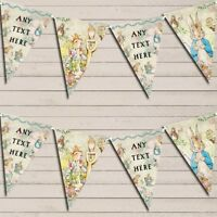 Beatrix Potter Peter Rabbit Banner Baby Shower Bunting