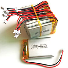 10 pcs 3.7V 900mAh Lipo Battery with JST 1.5mm 2pin For GPS mobile phone 603443
