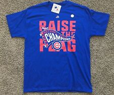 Chicago Cubs 2016 NL Championship T-shirt Blue Majestic Sz LARGE New